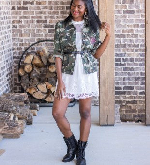 Spring has Sprung // 1 Camo Jacket 2 Looks!