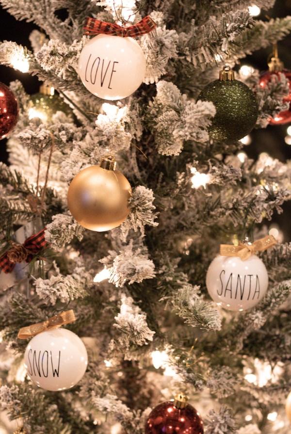 DIY Rae Dunn Inspired Christmas Ornaments