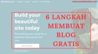cara mudah membuat blog gratis di wordpress