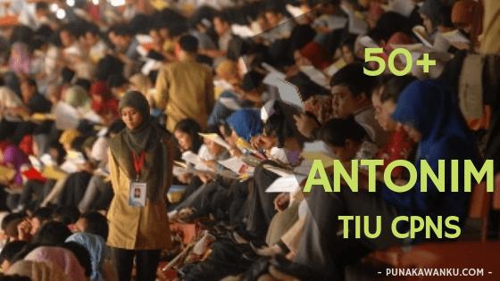 Kumpulan Soal ANTONIM CPNS Beserta Kunci Jawaban - Tes Intelegensia Umum