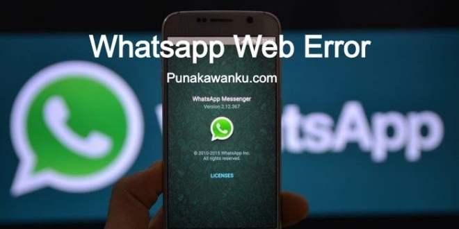 Whatsapp Web Error