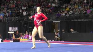 Kirsten Peterman (CAN) - Floor Exercise - 2016 Pacific Rim Championships Team/AA Final