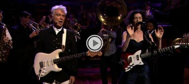 David Byrne and St. Vincent Visited @LateNightJimmy