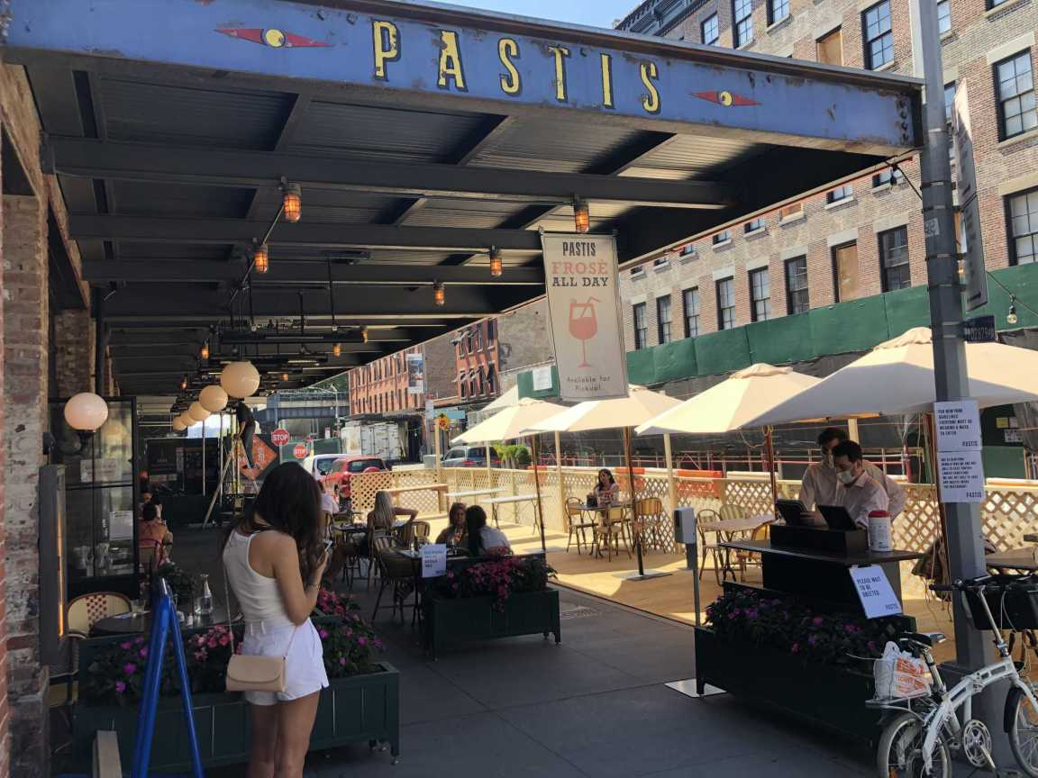 New Yorkers Flock Back to Restaurants as Outdoor Dining Springs Up Everywhere