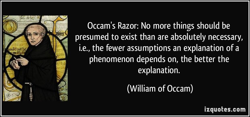 Applying Occam's Razor to your writing - Punchline