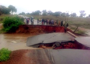 Image result for collapsed Michika bridge