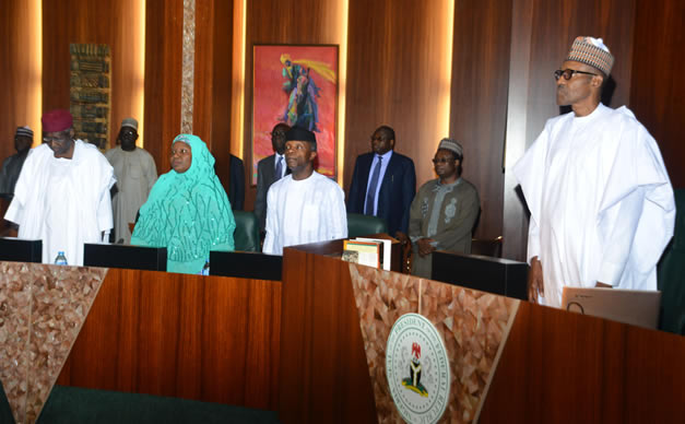 Image result for Buhari FEC