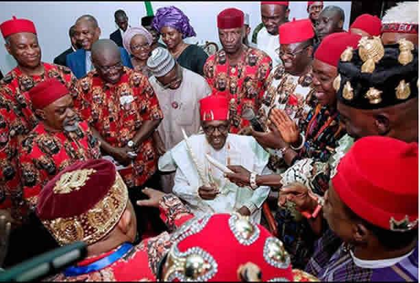 Image result for Buhari in Ebonyi, urges Igbo to reject secession propaganda