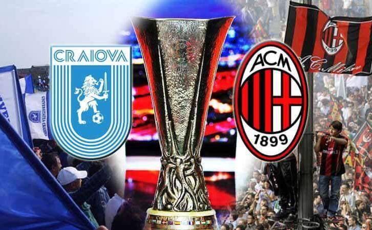 """CRAIOVA-MILAN. Meciul anului, live pe un impresionant ecran în Piața """"Frații Buzești"""""""