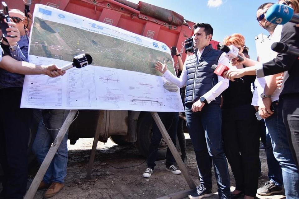 Au început lucrările la Drumul Expres Craiova-Pitești. Claudiu Manda:  Centura Balșului va fi gata până la finele anului, iar Centura de Sud a Craiovei va fi scoasă la licitație în luna august