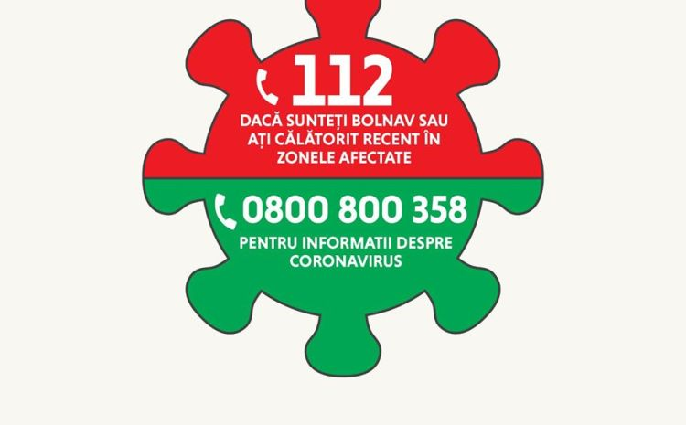 15 RECOMANDĂRI privind conduita socială responsabilă în prevenirea răspândirii coronavirus (COVID-19)