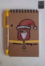 xmas_handdrawn_unique_pattern_notebook_recycled_5_santa_punch