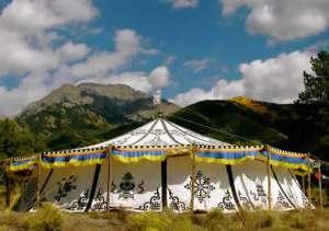 Tibetan tent/teaching site on Yeshe Rangsal land