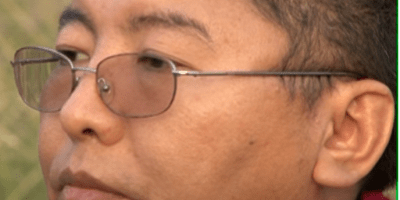 Closeup of Tsoknyi Rinpoche's face