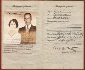 Britisk pas fra 1927.