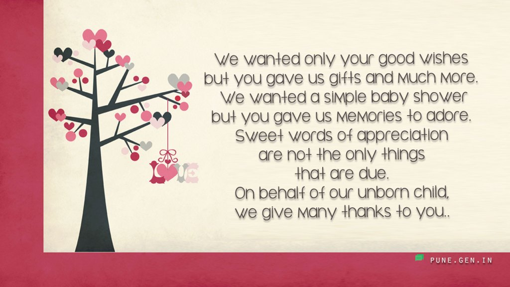 Thank You Messages For Baby Shower Gifts Thank You Notes Wishes