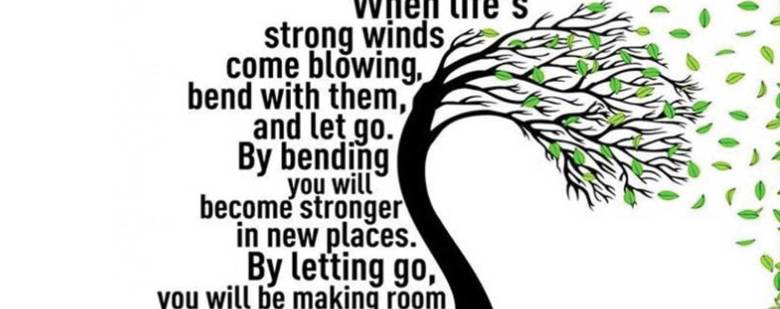 Beautiful Quotes : When Life's strong winds...