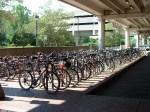 Bicycle Parking, USA agr CC-SA-3.0 https://en.wikipedia.org/wiki/File:AlewifeBikeParking.agr.2001.JPG
