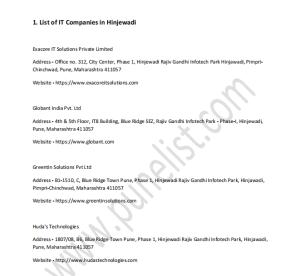 List-of-it-companies-in-pune-pdf