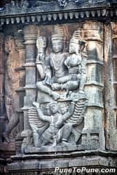 Ravana lifting Kailasa