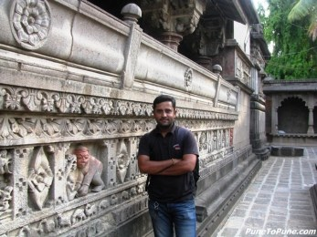 Santosh at the Temple