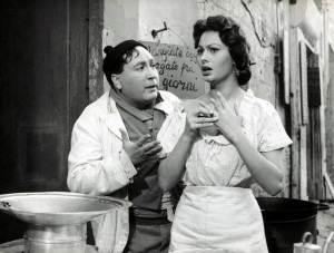 """G.Furia e S.Loren in """"L'oro di Napoli"""""""