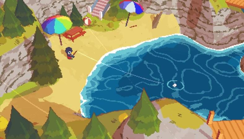 A Short Hike - fishing gameplay