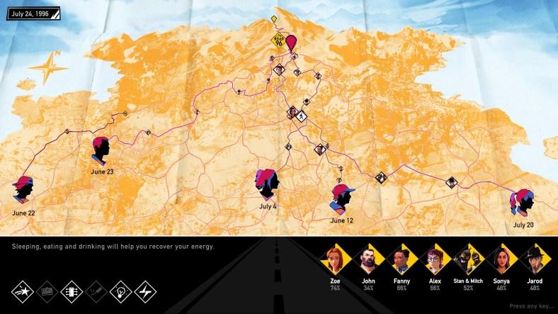 Road 96 map