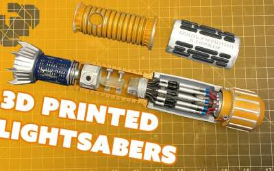 Assembling 3D Printed Lightsabers with the 3D Printing Nerd – Prop: Live from the Shop