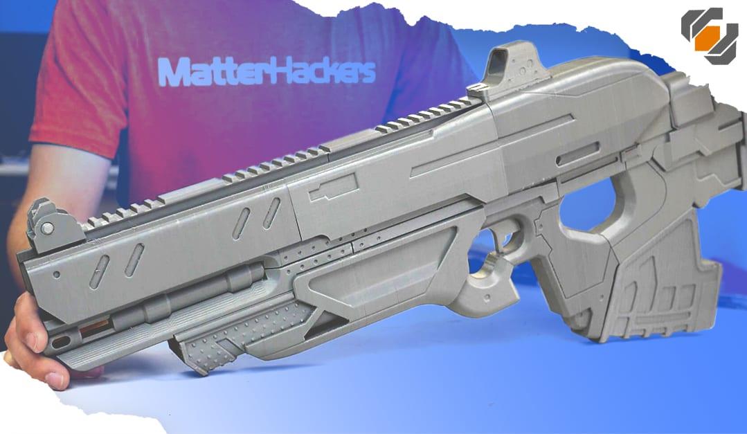 Assembling a 3D Printed Prop Gun at Matterhackers