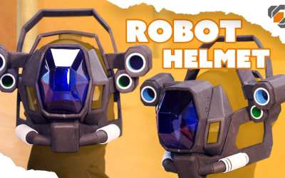 Vacuform Visor and EVA Foam Robot Helmet – Destiny Sweeper Bot Build