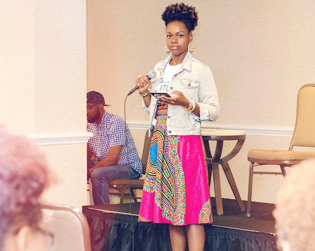 Crystal Johnson at a Speaking Engagement