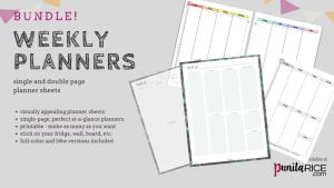 Punita Rice Weekly Planners Bundle