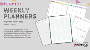 Punita Rice Weekly Planners Bundle