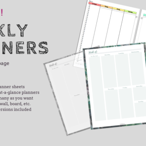 Weekly Planners Bundle