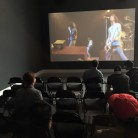 The fourth gallery space looped a full Ramones concert video at high volume.