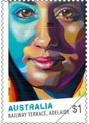 Australia 2017 Street Art $1 Vans the Omega Railway Terrace stamp