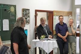 Bürgermeister Klaus-Dieter Scholz und Bezirksbürgermeister Rainer Jörg Grube