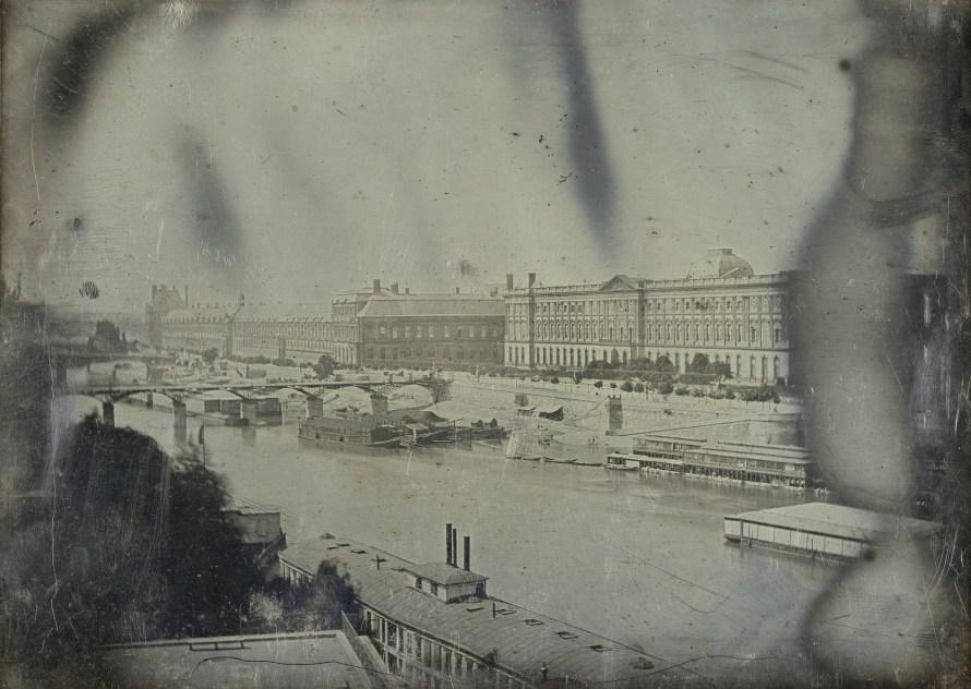 Ismeretlen: La Seine, vue du Pont-neuf, 1839 körül. Fotó: Bibliothèque nationale de France.