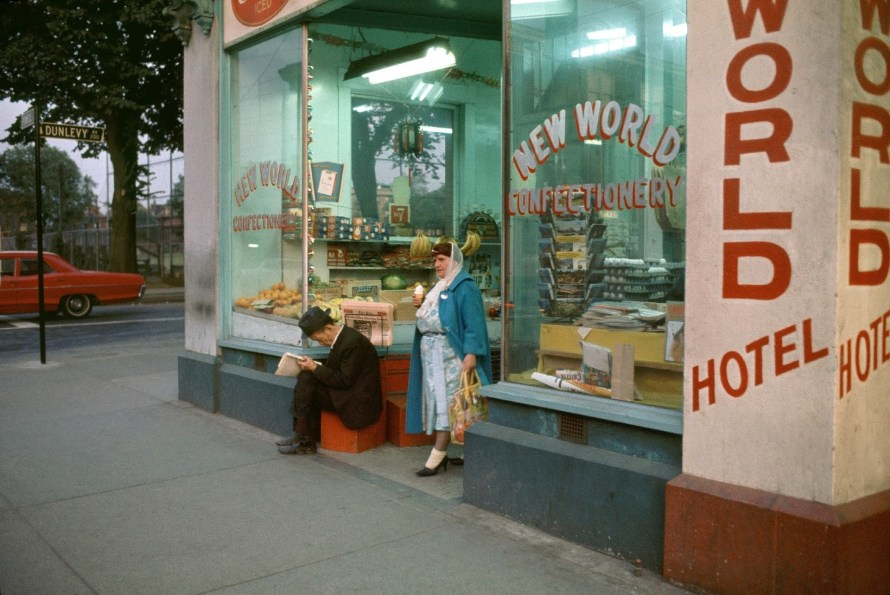 Fred Herzog: New World Confectionery, 1965. © Equinox Gallery