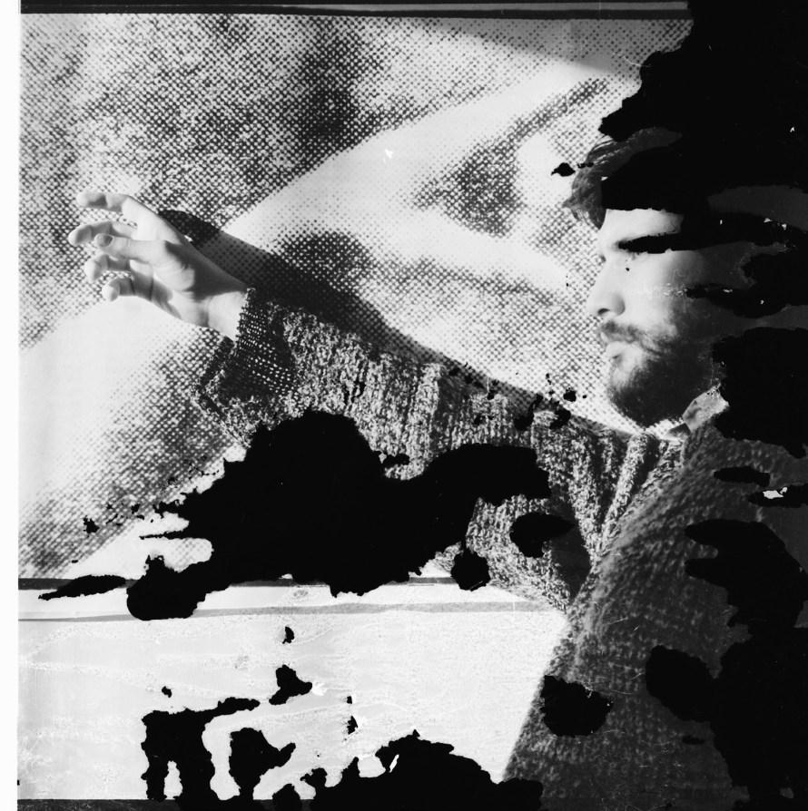 Lajos Csontó: X .2., 1986, black-and-white print, 50x50 cm