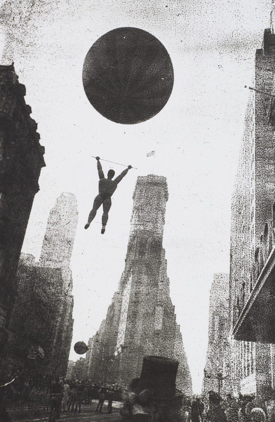 <b>ROBERT FRANK (1924-2019)</b><br> <i>Men of Air, New York, 1948</i><br> gelatin silver print, printed in 1960s<br> image: 11 ¼ x 7 ½ in.<br> sheet: 14 x 11 in. <br> <b>Estimate:</b> $30,000-50,000