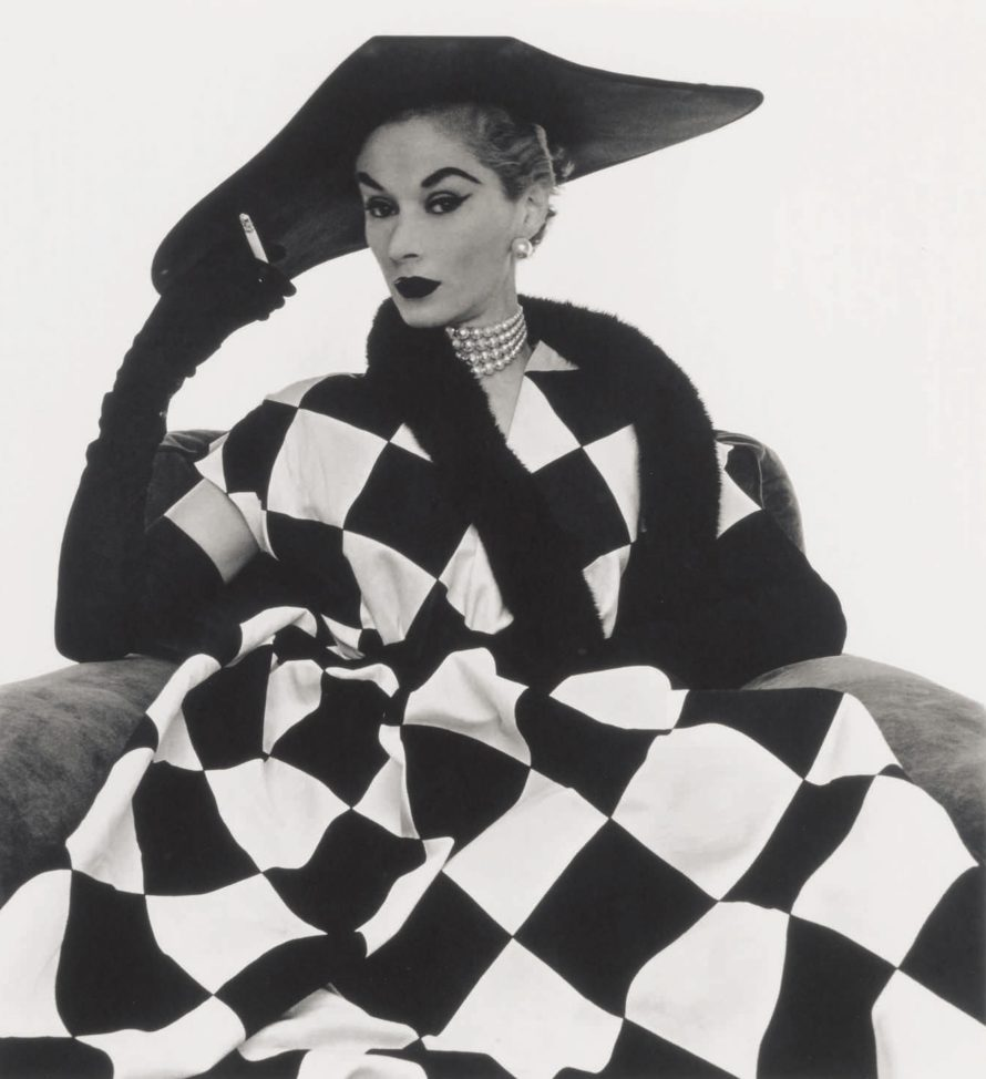 Fotó: <b>Irving Penn</b>:<br> <i>Harlequin Dress</i><br> Courtesy of Sotheby's<br>
