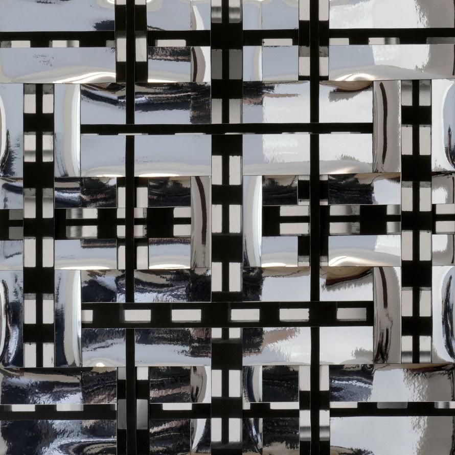 Photo: <b>Anikó Robitz</b>: Woven Mirror 08, 2020, 50x50 cm