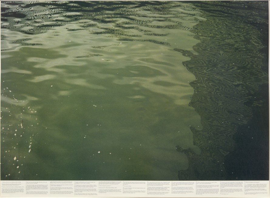 Fotó: Roni Horn:  Still Water (The River Thames, For Example) III. Images: N, G, and H, 1999 © PHILLIPS<br>  Leütési ár (1-3): $23.940