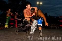 Ryan Slade/Zach Thompson/Jimmy Rockwell vs. Xavier Mustafa/Justin Reno