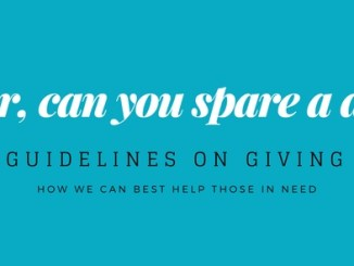 can you spare a dime, guidelines on giving