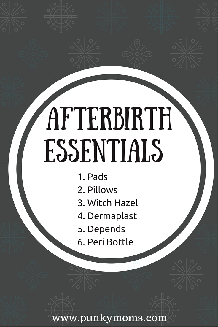 afterbirth shopping list