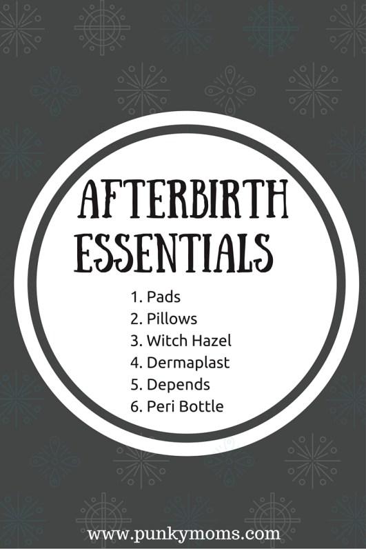 afterbirth shopping list essentials