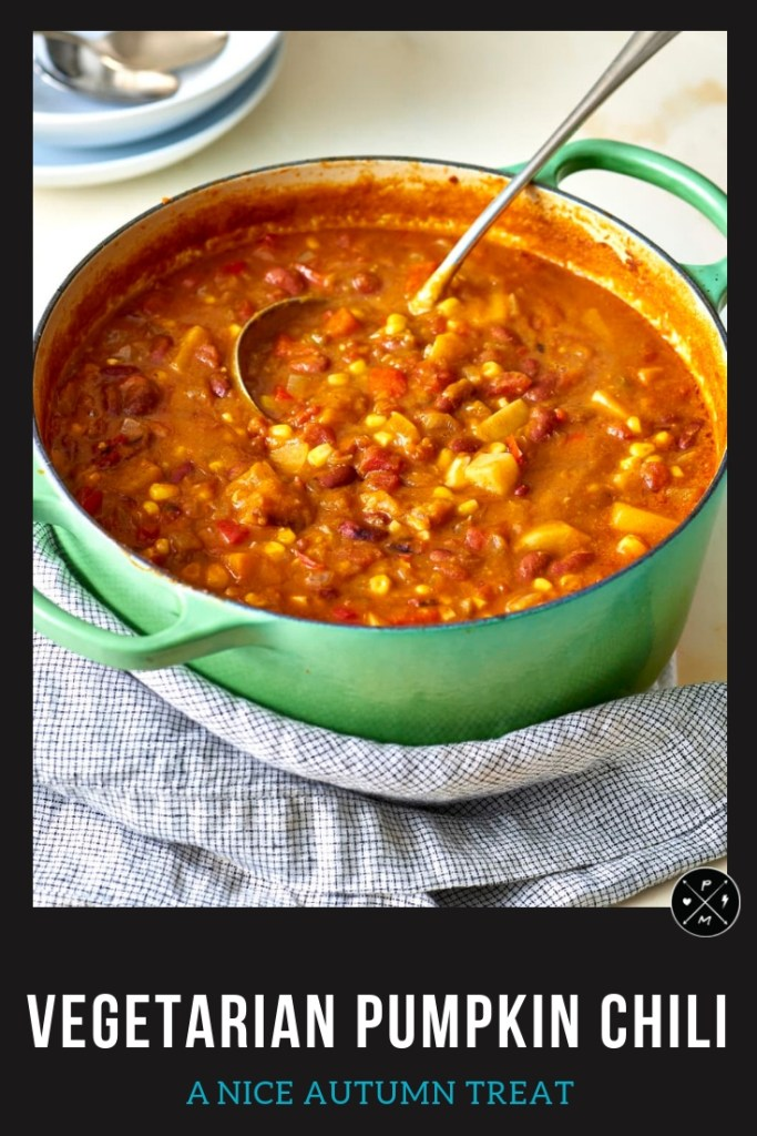 Yummy vegetarian recipe for pumpkin #chilli. Can be modified for slow cooker.. I make this EVERY YEAR!